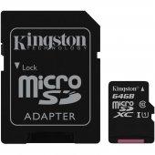 Kıngston Sdcs 64gb 64gb Class10 Microsd Canvas Select Sdxc Haf