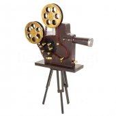 Nostaljik Metal Dekoratif Kamera Dev Boyutlu