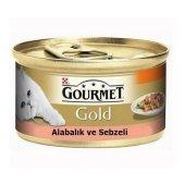Gourmet Parça Etli Alabalıklı Yetişkin Kedi Konservesi 85 Gr