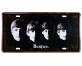 Vintage Metal Plaka The Beatles 15x30