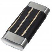 Visol Carver Ahşap Çelik Puro Taşıma Kılıfı Siyah 3lu (60 Ring)