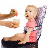 Sevibebe Kumaş Mama Sandalyesi (Gri Pembe)