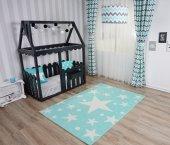 Mint Yeşili Yıldızlı Çocuk Odası Halısı