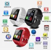 Siyah U8 Bluetooth Akıllı Saat İos Android