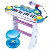 24 Tuşlu Mikrofonlu Çocuk Orgu Oyuncak Müzik Aletleri