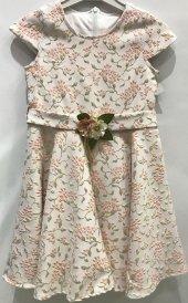 Kız Çocuk Elbise Çiçek Desenli Jakarlı