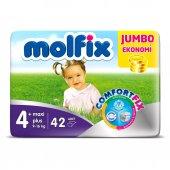 Molfix Maxi Plus 4+ No Bebek Bezi Jumbo Paket 9 16 Kg 42 Adet