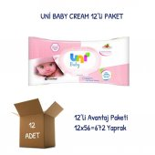Uni Baby Cream Islak Havlu Mendil 12li