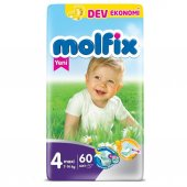 Molfix Maxi 4 No Bebek Bezi Dev Eko Paket 7 14 Kg 60 Adet