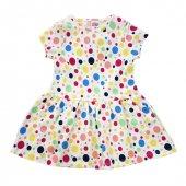 Dmb Puantiyeli Kız Çocuk Penye Elbise