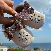 çıt Çıtlı Makosen Tabanlı Bebek Ayakkabı Bej Cv 467