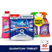 Finish Quantum 40 Tablet + Marc 900 Ml Floral + Cillit Bang Mutfa