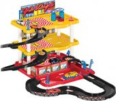 Dede 3 Katlı Garaj Oyun Seti Sarı Ve Kırmızı Renkte 2 Adet Metal Spor Araba Hediyeli