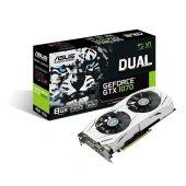 Asus 8gb Nvidia Gtx1070 Dual Oc Edition Gtx1070 8g Ddr5 256bit 2x Hdmı Dvı 2x Displayport 16x (Pcıe 3.0) 225w 500w 8.0gh