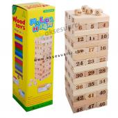 Ahşap Blok Jenga Denge Oyunu Eğitici Çocuk Oyunu Puzzle Oyuncak
