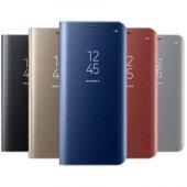 Samsung Galaxy Note 8 Clear View Akıllı Kılıf Gümüş