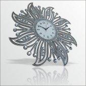 Fas Osmanlı Çiçek Motif Desenli Akrilik Çok Taşlı Duvar Saati