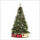Bol Süslü 180 Cm Uzun Gerçek Gibi Yeşil Gür Yılbaşı Çam Ağacı