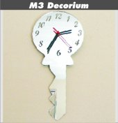 M3 Decorium Anahtar Dekoratif Ayna Saat