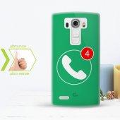 Kişiye Özel Lg G4 İnce Şeffaf Silikon Telefon Kapağı (Cevapsız Ça