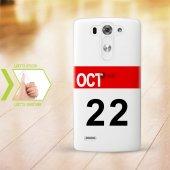 Kişiye Özel Lg G3 İnce Şeffaf Silikon Telefon Kapağı (Takvim 2)