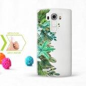 Kişiye Özel Lg G4 İnce Şeffaf Silikon Telefon Kapağı (Yaprak Tema