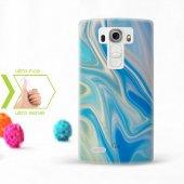 Kişiye Özel Lg G4 İnce Şeffaf Silikon Telefon Kapağı (Mermer Tema