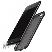 Baseus Plaid İphone 7 8 Siyah Şarjlı Kılıf Arka Koruyucu Kapak 2500mah