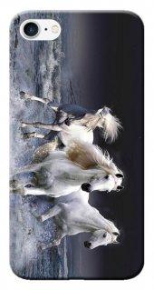 Iphone 6 6s Kılıf Silikon Baskılı Beyaz Atlar Stk 175