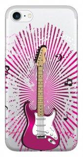 Iphone 6 6s Kılıf Silikon Baskılı Mor Gitar Stk 316