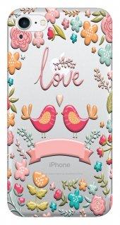 Iphone 6 6s Kılıf Silikon Baskılı Love Çiçekli Stk 326