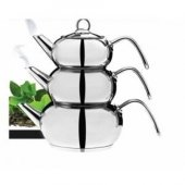 Karaca 3d Çaydanlık Takımı (3 Farklı Boy Çaydanlık Sistemi)