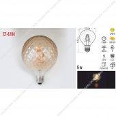 Cata Ct 4294 6 Watt Rustik Cob Led Buji Ampul Ampül E 27 Duylu