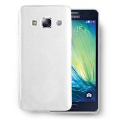 Galaxy A3 Deri Dokulu Tpu Arka Kapak Beyaz