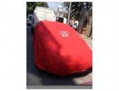 Audi Araca Özel Logolu Kırmızı Branda