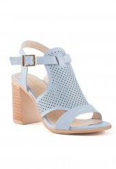 Camille Bebe Mavisi Cilt Topuklu Bayan Ayakkabı