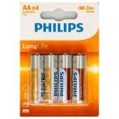 Philips Longlife Aa 4&#039 Lü Paket Kalem Pil