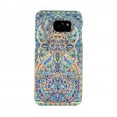 Samsung Galaxy S7 Kapak Alaiye El Yapımı Kilim Desenli Kumaş Doku