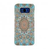 Samsung Galaxy S8 Kapak Alara El Yapımı Kilim Desenli Kumaş Dokum