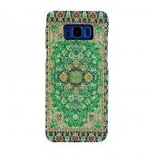 Samsung Galaxy S8 Kapak Fenike El Yapımı Kilim Desenli Kumaş Doku
