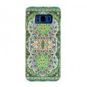 Samsung Galaxy S8 Plus Kapak Verde El Yapımı Kilim Desenli Kumaş