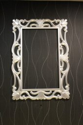 Papatya Ayna Cercevesi 90x180 Gumus