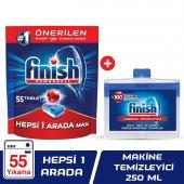 Finish Hepsi Bir Arada 55 Tablet Bulaşık Makinesi Deterjanı + Mak