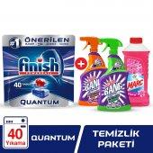 Finish Quantum 40 Tablet +marc Yüzey Temizleyici 900 Ml Floral +