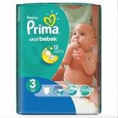 Prima Aktif Bebek Midi Bebek Bezi 3 Numara 34 Adet