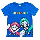 Dobakids Super Mario Erkek Çocuk Tişörtü 2 3 4 5 Yaş Mavi