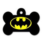 Dalis Pet Tag Batman Logo Desenli Kemik Köpek Künyesi