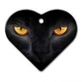 Dalis Pet Tag Kedi Gözü Geniş Kalp Kedi Köpek Künyesi