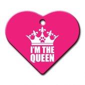 Dalis Pet Tag Im The Queen Geniş Kalp Kedi Köpek Künyesi