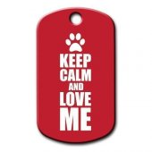 Dalis Pet Tag Keep Calm And Love Me Kedi Köpek Künyesi